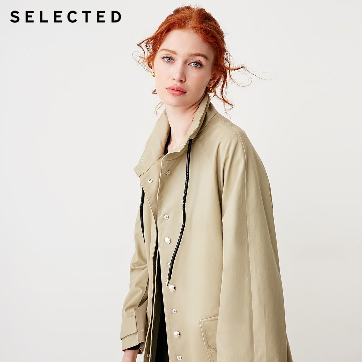 Kadın Giyim'ten Siper'de Seçilen kadın pamuk karışımlı çeşitli renkler Stand up yaka kemer rüzgar ceketi S  419121510'da  Grup 1