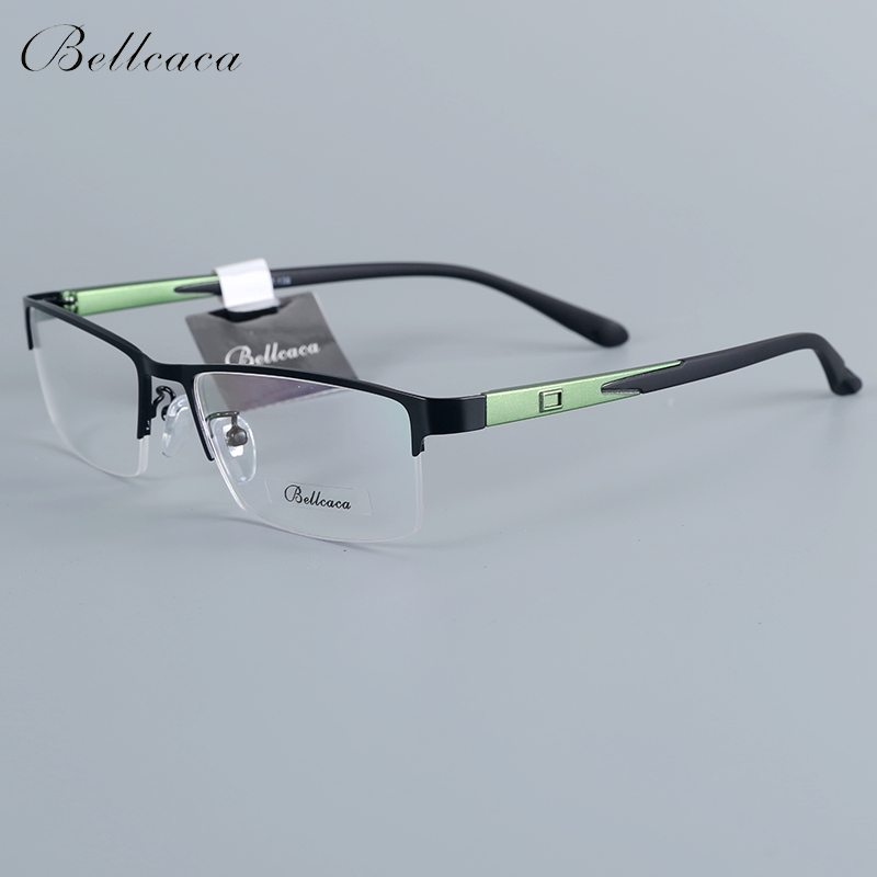 Bellcaca Spectacle Frame Men Eyeglasses Nerd Computer Optical Transparent Clear Lens Eye Glasses Frame For Male Eyewear 12007