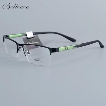 Bellcaca ramka do okularów mężczyźni okulary Nerd komputer optyczne przezroczyste soczewki oczu okulary rama dla męskie okulary 12007 tanie i dobre opinie FRAMES Okulary akcesoria STAINLESS STEEL Stałe