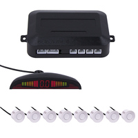 22mm LED Display Car Parking Sensor Kits 8 Sensors Car Radar Detector Backup Radar Monitor System