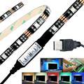 1 UNIDS USB Poder Resaltar LED Iluminación de Tira 5 V 5050SMD Sesgo para HDTV TV Retroiluminación RGB 27 led Flexible DIY Casa decoración