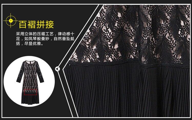 Dames Robe Soie 5xl Noir De Mode Élégante En Mousseline Longue Cultiver Belle La Taille Printemps Partie Plus 2018 Robes Patchwork S Dentelle PkwiOuXZT