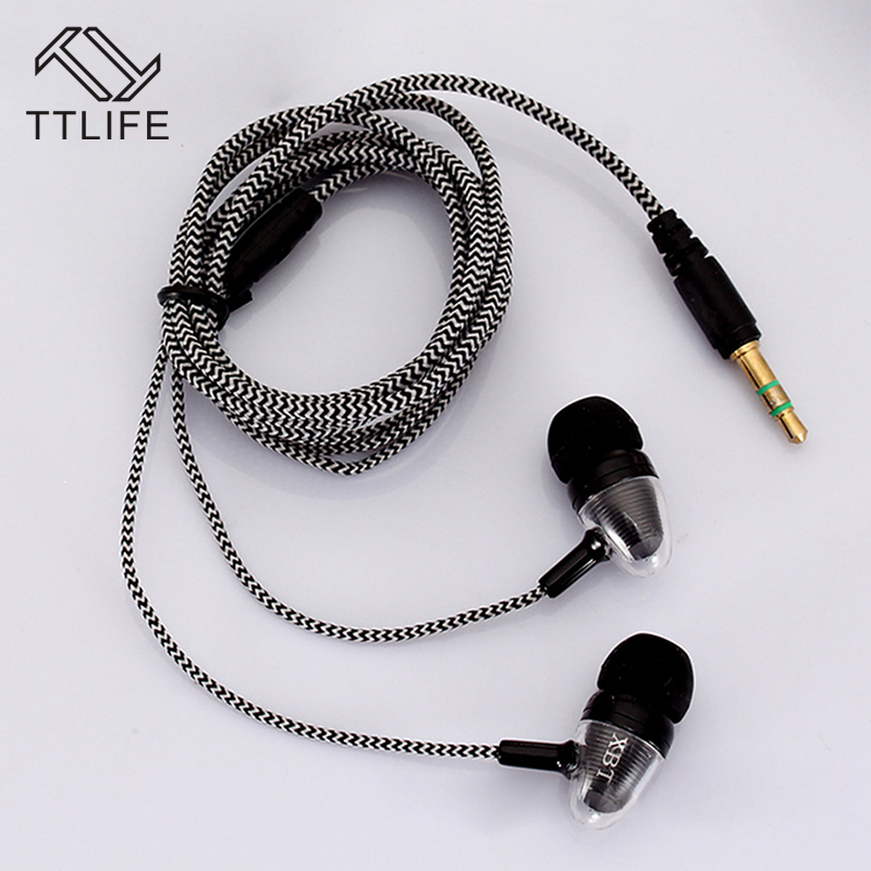 Original TTLIFE Wired Sports Earphones Music In-ear Headset C06605 HiFi Stereo Headphone With Mic for Android Phone Xiaomi Mp3 original xiaomi hybrid earphone units with mic remote in ear hifi earphones with mic circle iron mixed for xiaomi redmi mobile