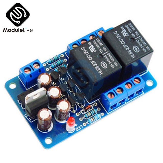US $2 64 18% OFF DIY KIT Speaker Protection Board Component Audio Amplifier  Boot Delay DC Protect AC 12 15V Double Channel LED Status Display-in