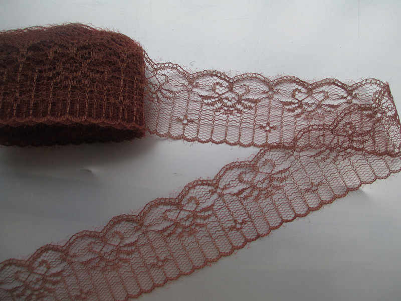 New listing 10 yards / 4.5 cm wide Brown beautiful lace ribbon lace embroidery lace DIY craft