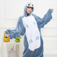 P464 Pajamas All In One Flannel Anime Pajama Sets Winter Cute Cartoon Owl Adult Women Lady