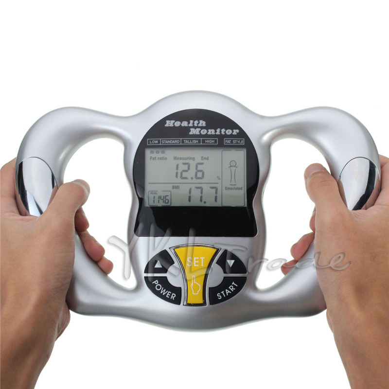 Mini Handheld Digital LCD Body Fat Monitor Scale BMI Meter Tester Body Fat Analyzer Calorie Measurement Tools Health Care 2 in 1 digital pedometer with fat analyzer