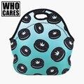 Сорняк Cookie 3D Печати обед мешки Who Cares 2016 Мода Новая lancheira termica loncheras lunch box сумка изолированные обед мешок