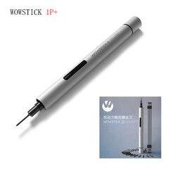 2018 wowstick 1fs 1p torque elétrico 0.3 n. m mini elétrico para chave de fenda 18 peças bits para kits casa inteligente