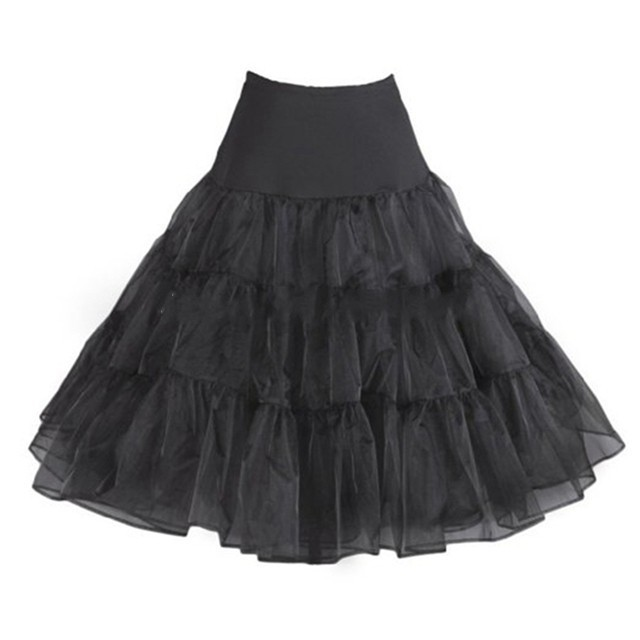 Free Shipping 4 Colors 2 Layers Wedding Petticoat Lady Girls Underskirt Rockabilly Dance Retro Vintage Fancy Skirt Tutu