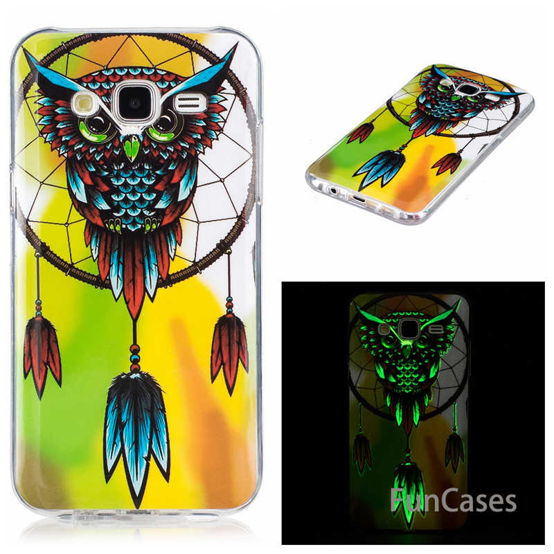 Luxury Cell Phone Case for Samsung galaxy J7 neo Nxt J3 J5 J7 Prime 2015 2016 2017 duos Silicone butterfly luminous Cover