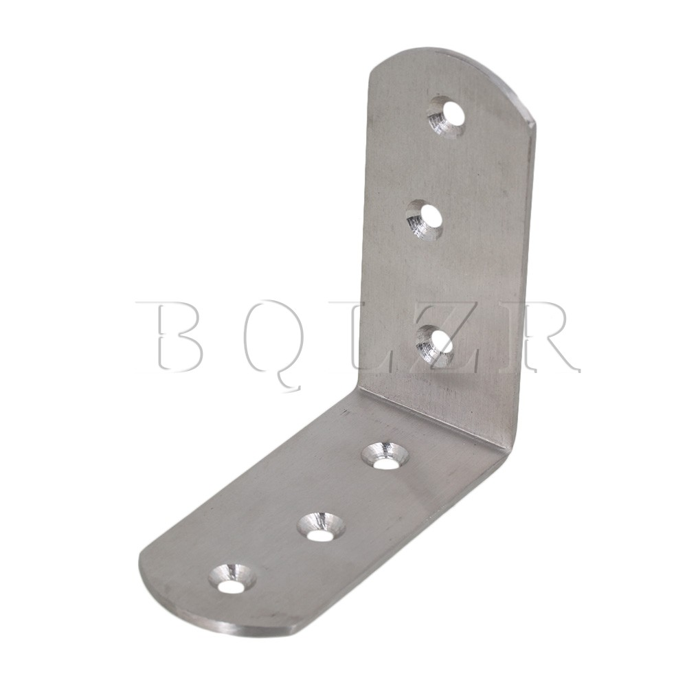 BQLZR 82mm 90 Degree L Shape Thickened Stainless Steel Corner Bracket Brace Support 2pcs set stainless steel 90 degree self closing cabinet closet door hinges home roomfurniture hardware accessories supply
