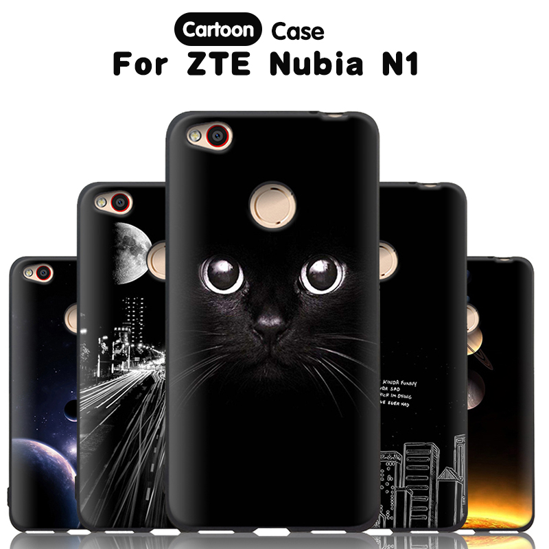 JURCHEN Phone Cover For ZTE Nubia N1 Case 5.5 inch Cute Cartoon Print Silicone Soft TPU Back Cover For ZTE Nubia N1 Cover Case ...