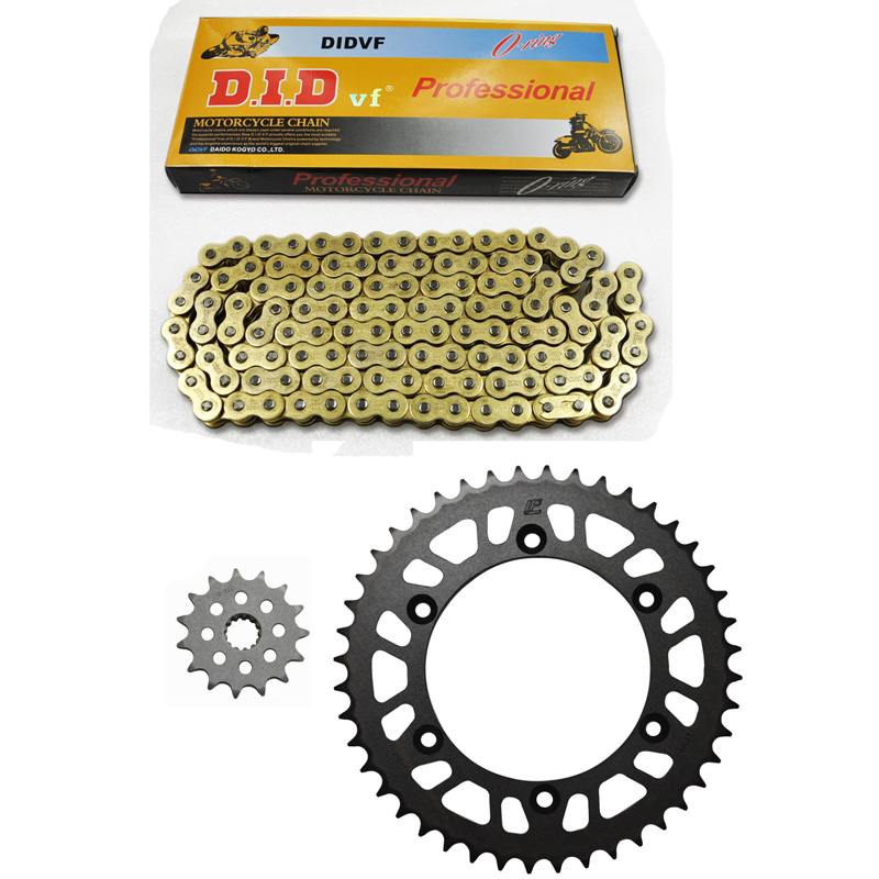 MOTORCYCLE 520 CHAIN Front & Rear SPROCKET Kit Set FOR Suzuki Road DR-Z250 K1-K7,DR350 SE-T/V/W/X,DRZ400 S/SM-K1-K9,L0-L6 1 set motorcycle front