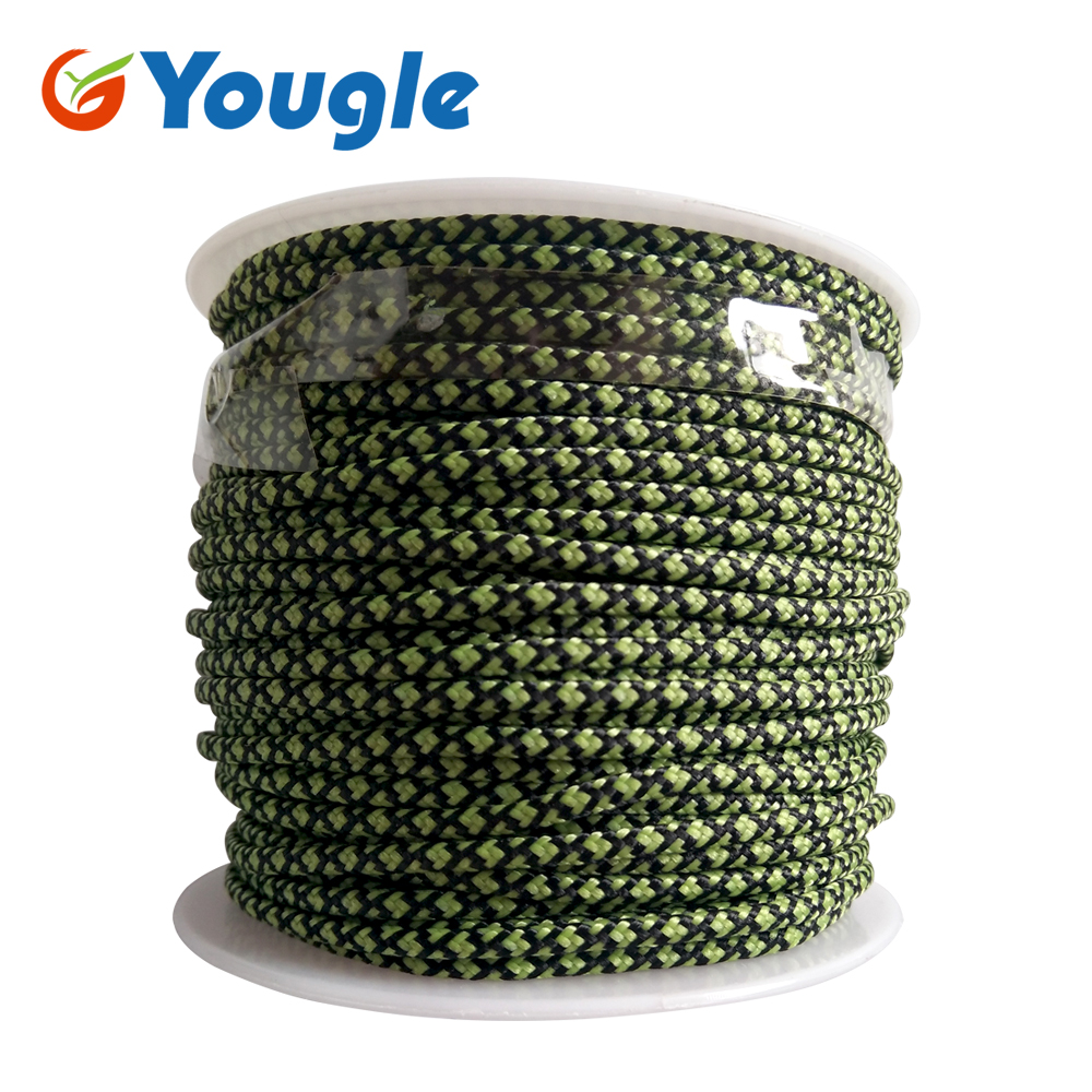 YOUGLE 2mm  3 Strand  High Quality Paracord Parachute Cord Outdoor Camping  Tent Rope Fishing Line Wholesale 164FT 50meters