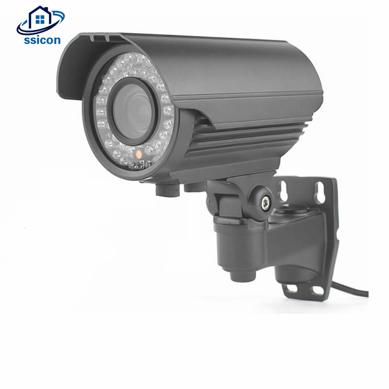 SSICON Waterproof 2.8-12mm Varifocal Lens CCTV Camera Outdoor IR 40M AHD 4MP Outdoor Security Camera Night Vision With OSD Menu 4 in 1 ir high speed dome camera ahd tvi cvi cvbs 1080p output ir night vision 150m ptz dome camera with wiper