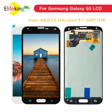 1PCS Lot AMOLED For Samsung S5 LCD G900F Display LCD Screen Touch Digitizer Assembly For Samsung