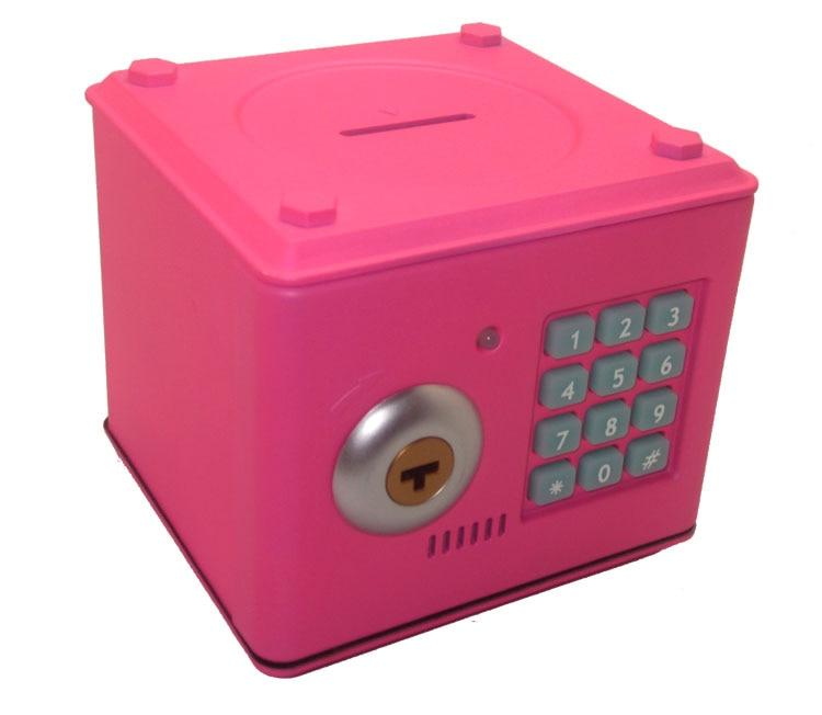 Mini Code Case Safe Box Money ATM Piggy Bank Cash Luxury Saving Lock Pot with Key