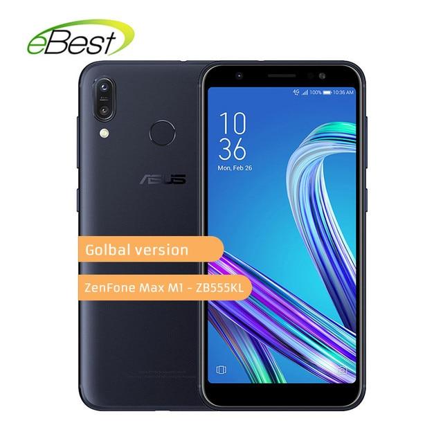 ASUS ZenFone Max M1 ZB555KL 4G LTE Смартфон Android 8,0 5,5 дюйма 4000 mAh Батарея двойной сзади Камера 13MP + 8MP мобильного телефона