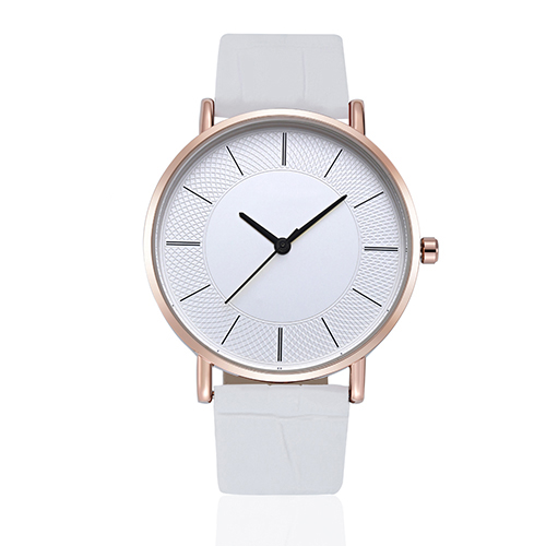 Woman Mens Retro Design Leather Band Analog Alloy Quartz Wrist Watch fashion woman s zinc alloy band quartz analog waterproof wrist watch bracelet silver golden