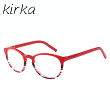 Kirka Acetate Women Glasses Frame Computer Brand Designer Clear Optical Myopia Spectacles A15295C2 in Purple Color