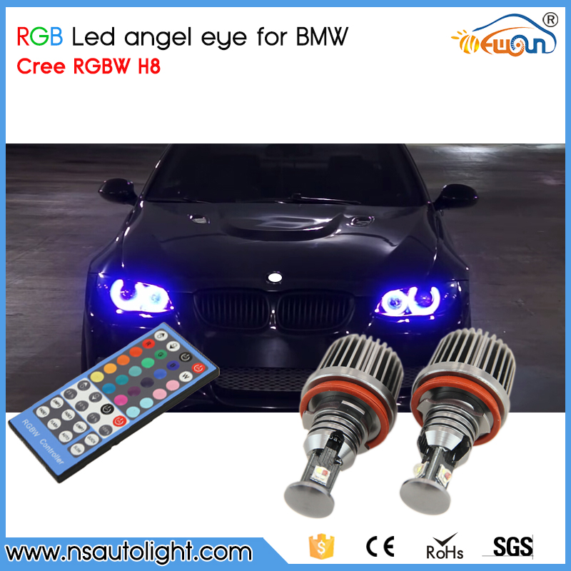 72W RGB Color Changing with Remote Controller Canbus H8 led angle eyes for BMW E87 E90 M3 E82 E92 M3 E60 X5 X6 E89 Z4 dmx512 digital display 24ch dmx address controller dc5v 24v each ch max 3a 8 groups rgb controller