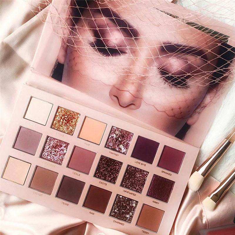 18 Colors Eye shadow palette natural glitter shimmer matte profesional Makeup Pearl Metallic Eyeshadow Palette Cosmetic 2019 目