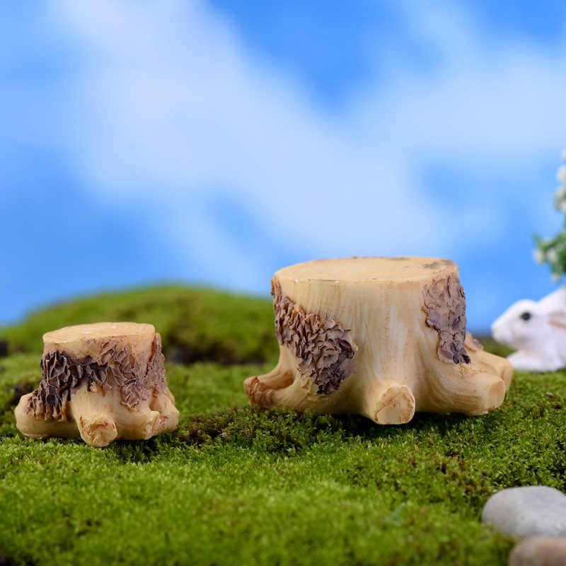 Base de Toco de árvore Em Miniatura De Fadas Jardim Casas Casa Decoração Minecraft Micro Paisagismo Decoração DIY Acessórios