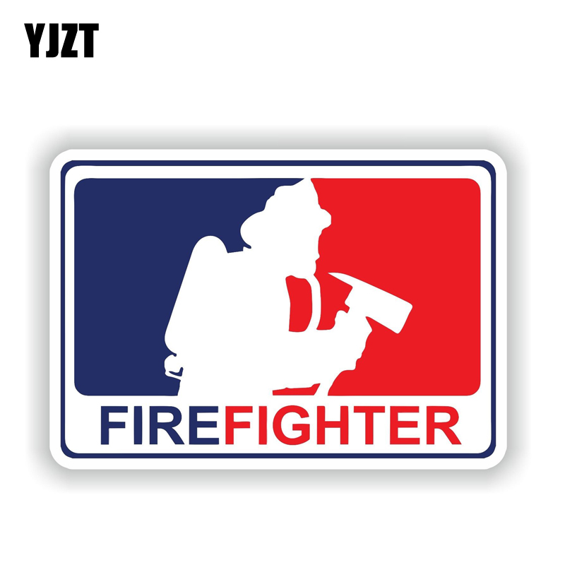 YJZT 12.6CM*8.6CM Personality Major League Firefighter Decal Motorcycle Bike Car Sticker 6-1882