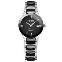 Для женщин часы Элитный бренд Повседневное Водонепроницаемый Стиль кварцевые Керамика Автоматическая Дата часы женские подарки Reloj Hombre Marca