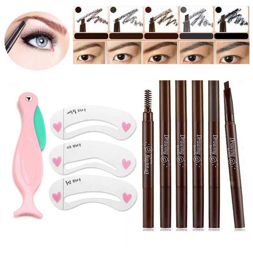 AddFavor Makeup Set Eyebrow Pencil Waterproof Painting Eyebrow Stencils Eye Brow Drawing Templet Eyebrow Beauty Accessories 1