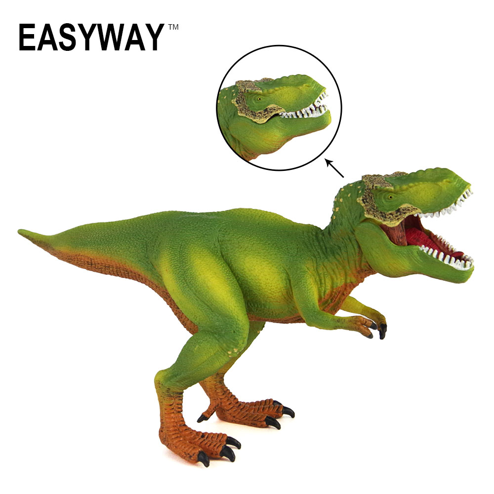 Mr.Froger Tyrannosaurus Rex Model Toy Dinosaur T-REX Classic Toys Children Animals Green Real Models Jurassic Toys Set Gift DIY acrocanthosaurus dinosaur toy model classic toys for boys children gift 302329