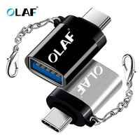 La OLAF OTG tipo-C/USB OTG Adaptador USB tipo C para Xiaomi Samsung Huawei S9 Typec Adaptador USB tipo C Tipo-c a USB 3,0 adaptador de OTG