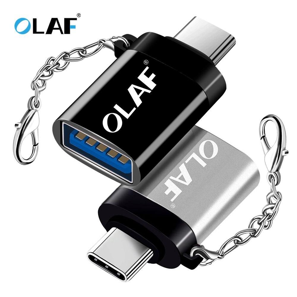 La OLAF Tipo OTG-C/Adaptador USB OTG USB Tipo C para Xiaomi Samsung Huawei S9 Typec Adaptador USB Tipo C Tipo-c a USB 3,0 Adaptador de OTG Lector de tarjetas SD USB 3,0 adaptador USB tipo C Micro TF/SD lector de tarjetas de memoria adaptador USB lector de tarjetas 3 en 1 OTG