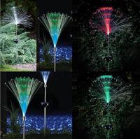 2 adet Açık Yard Bahçe Yolu Yolu Güneş fiber optik lightr Renkli Düğün Centerpieces Için Işıkları Lamba Süslemeleri Garland