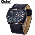 Wholesale Watches Mens Unique Leather Wide Strap Unique Designer Watches Quality Japan Movt Quartz Wrist Watch reloj hombre 4094