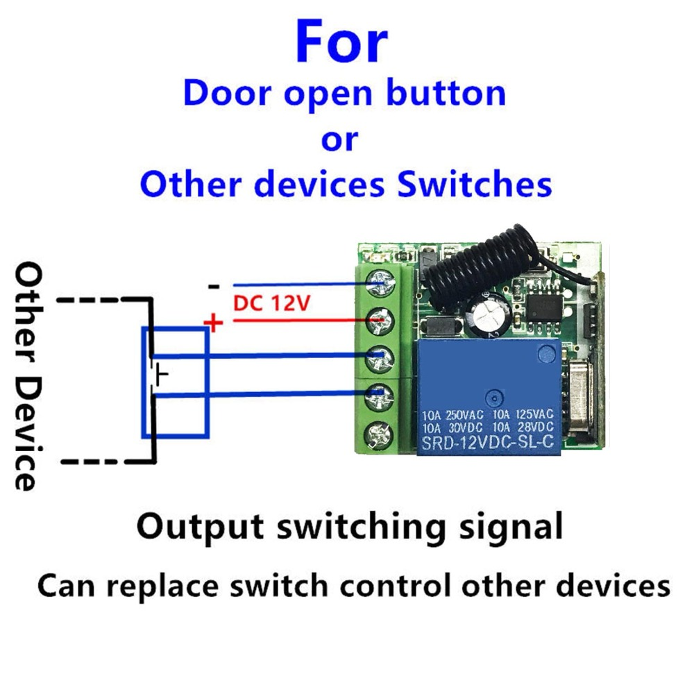 433MHz-Universal-Wireless-Remote-Control-Switch-DC-12V-1-CH-RF-Relay-Receiver