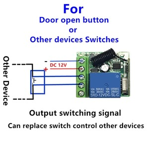 Image 5 - 433 Mhz Universal Wireless Remote Control Switch DC 12V 1CH Relay Receiver Module and RF Transmitter Electronic Lock Control Diy