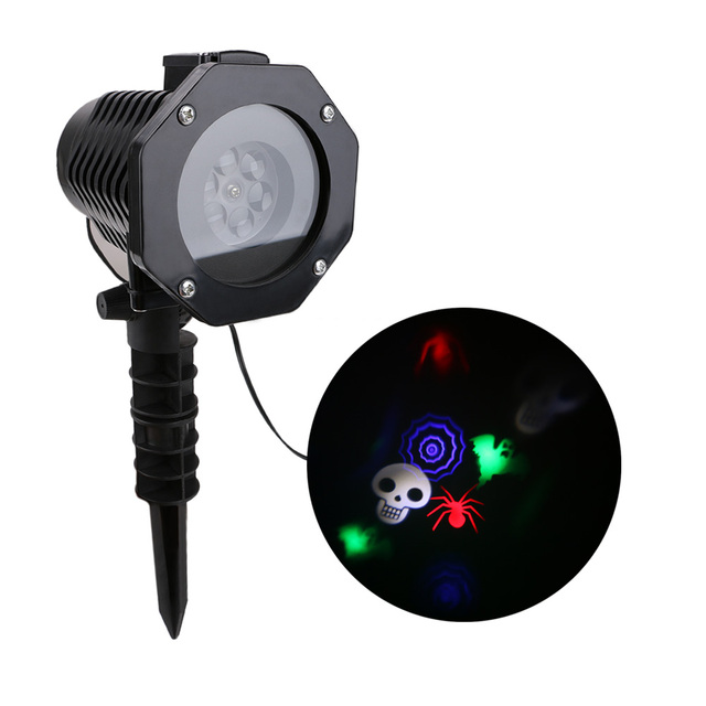 Halloween Ghost Projector | Led Stage Light Laser Projector Lamps Ghost Spider Skull Christmas