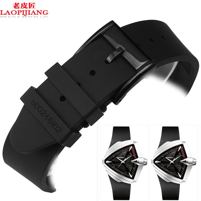 Série de aventura H24655331 Laopijiang alternativa hamilton silicone pulseira pulseira de Silicone Faixa De Relógio de Borracha