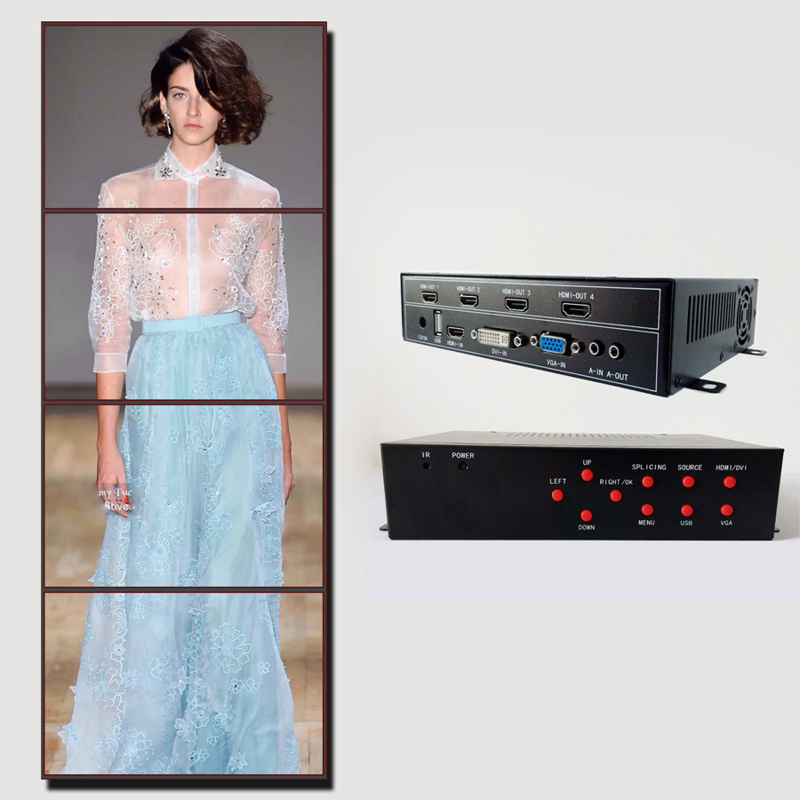 Desktop Digitaler Musik-player 2x4 Videowand-prozessor Für Videowand Zeigt Hdmi Dvi Vga Usb-eingang Hdmi-ausgang Die Neueste Mode