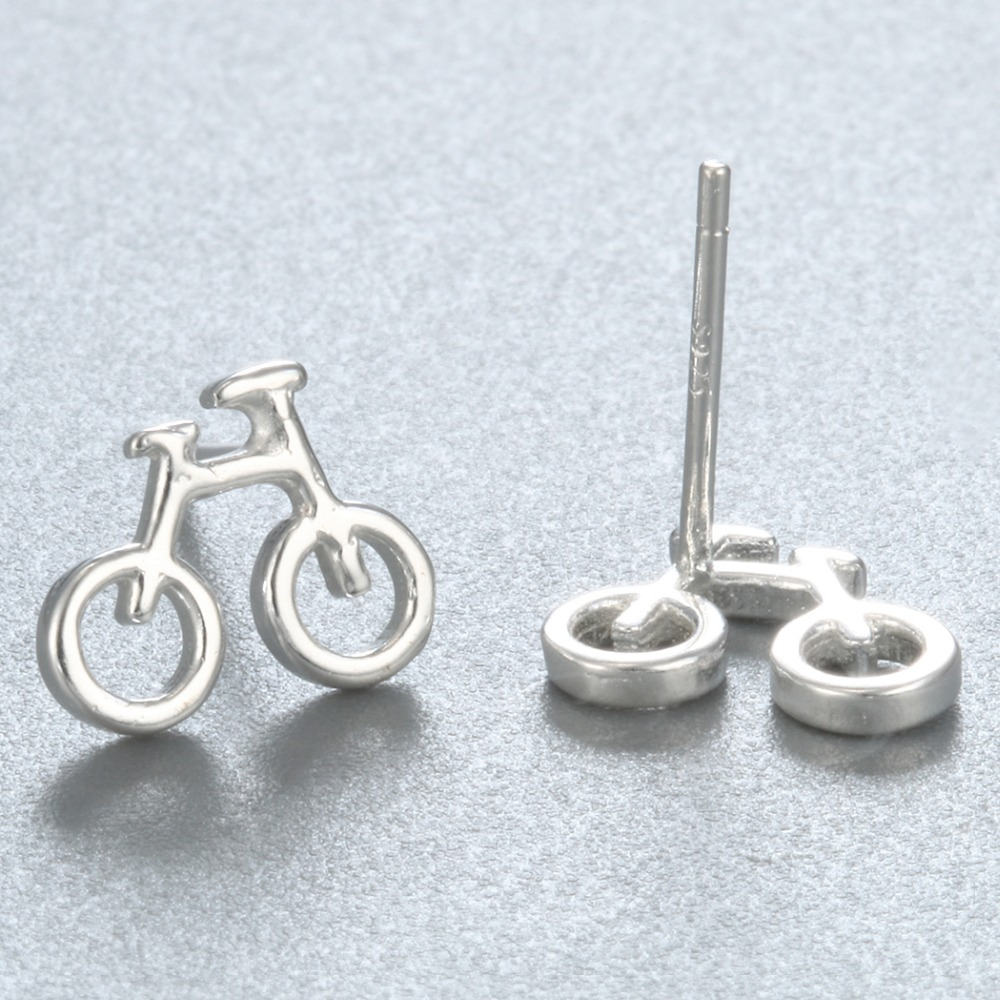 QIAMNI 925 Sterling Silver Biciklističke Stud naušnice Naušnice za - Modni nakit - Foto 4