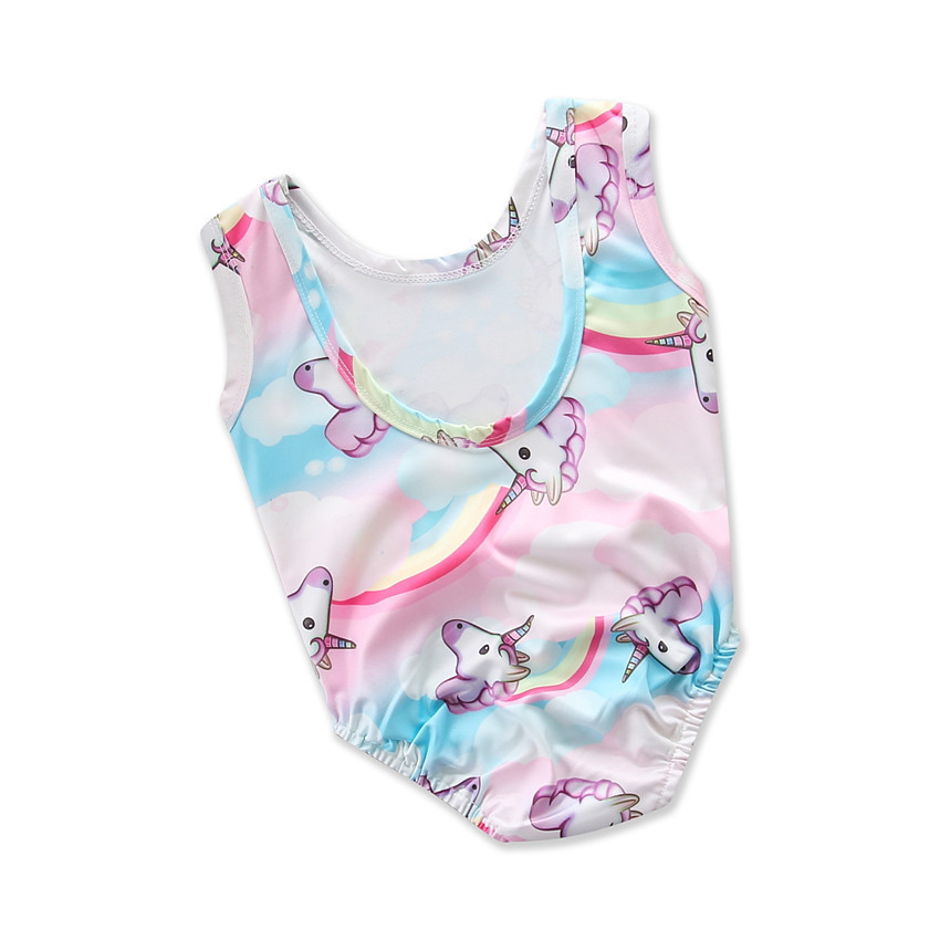 cfd0cf1be9 New girls 3D printing ute unicorn swimsuit summer children's swimsuit cool  kids beach vacation clothes princess swimwear 18M01-in Swimwear from Mother  ...