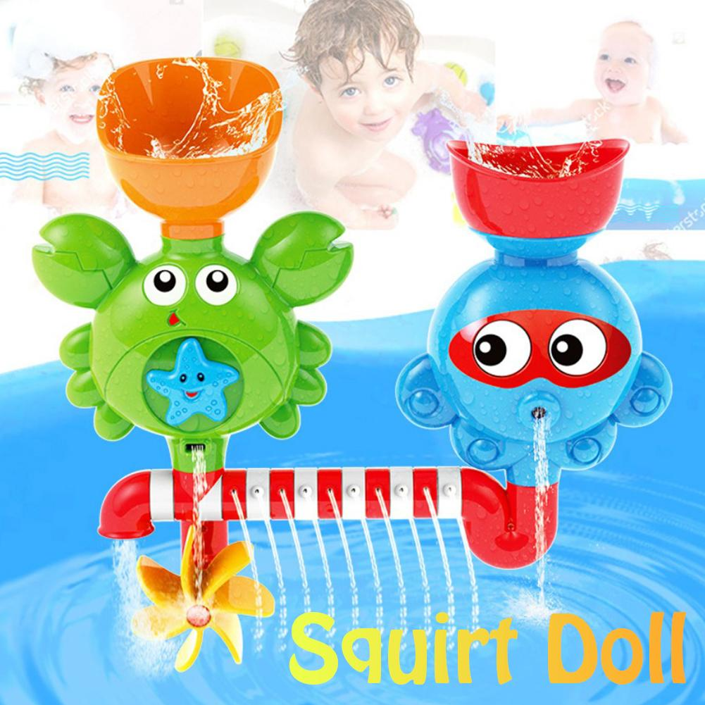 Baby Kid Bath Bathroom Spraying Turning Shower Water Paddle Toy