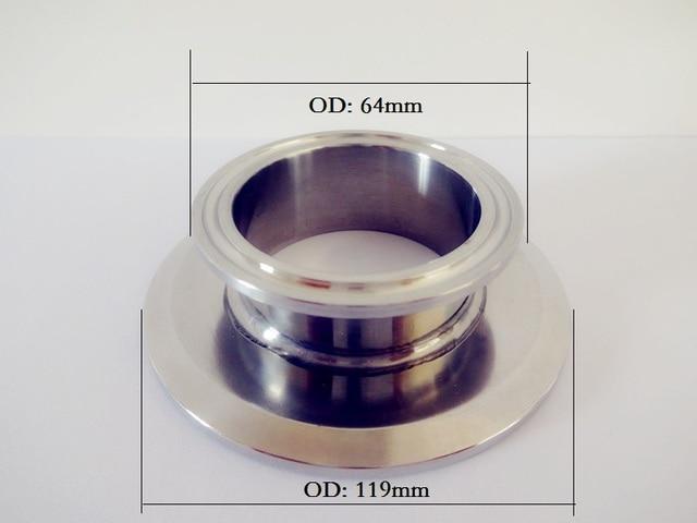 """Бесплатная доставка короткие Тип tri-clamp редуктор 4 """"(102 мм) OD119 x 2 """"(51 мм) OD64, санитарно Нержавеющаясталь 304 Разъем"""