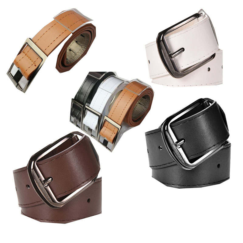 High Quality 2Style Women's   Belts   Buckle Mujer Faux Leather   Belts   For Men Designer   Belts   Women