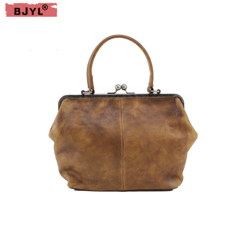 BJYL Genuine Leather Women Handbags doctors wrapped in the first layer of leather female imported leather tannets shoulder bags [100%] the new imported genuine 6mbp50rh060 01 6mbp50rta060 01 billing