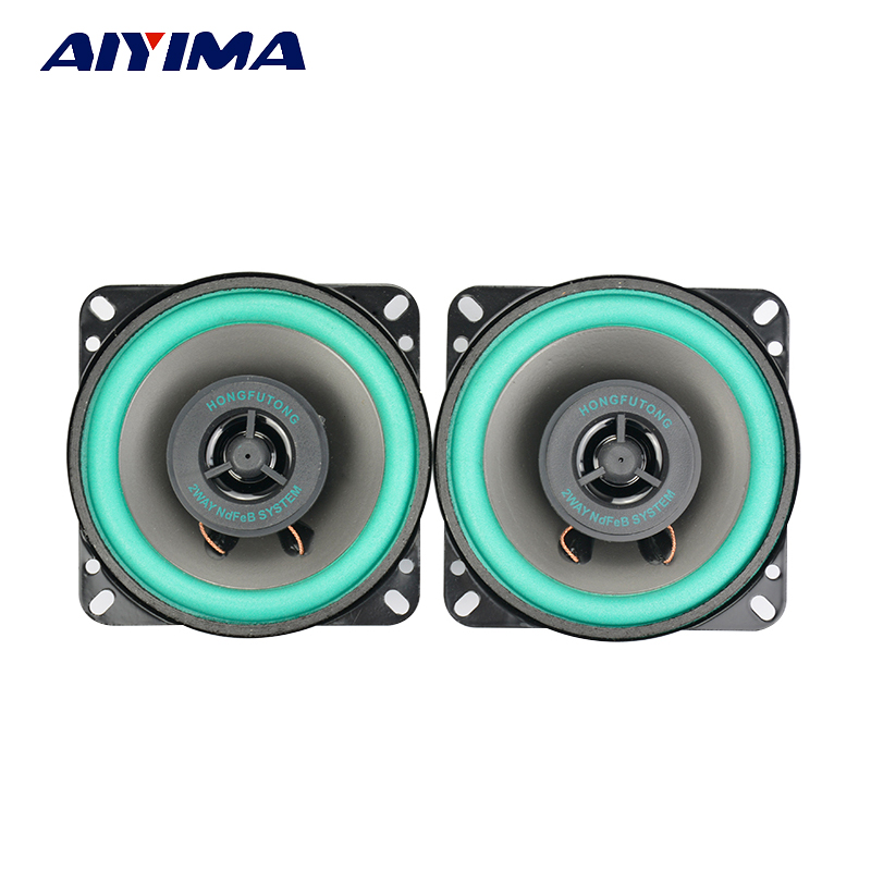 2Pcs 4Inch Car Audio Tweeter Speakers 4Ohm 40W Coaxial Full Frequency Dual Car Audio High Speakers colcom cc 520d 28mm tweeter component speakers for car audio system black pair