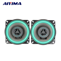 2Pcs 4Inch Car Audio Tweeter Speakers 4Ohm 100W Coaxial Full Frequency Dual Car Audio High Speakers