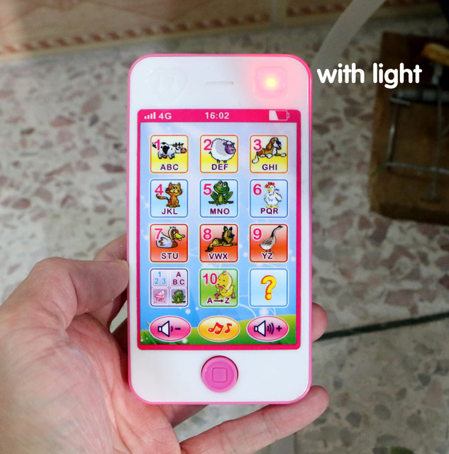 Inggris Ponsel Layar Sentuh Pencerahan Bayi Mainan Pendidikan Fun